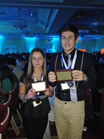 Kasandra Merlino and Greg Pappas were among the DECCA winners from Plymouth South