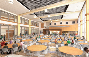 A well-lit, comfortable cafeteria awaits students of the new PSHS